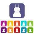 little dress icons set vector image vector image