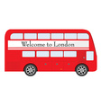 London red bus vector image vector image