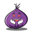 love red onion character cartoon vector image vector image