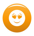 love smile icon orange vector image vector image