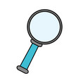 magnifying glass search vector image vector image