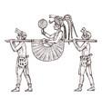 maya vintage style aztec culture litter vehicle vector image vector image