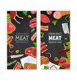 meat market banners set vector image vector image