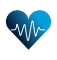 medical heart silhouette isolated icon vector image vector image