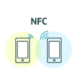 NFC technology concept vector image