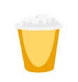 popcorn in yellow box cartoon vector image
