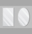realistic empty mirrors with reflect in mockup vector image vector image