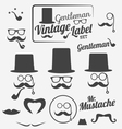 Retro Hipster Gentlemen Icon Set vector image vector image
