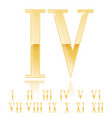 roman numeral four golden 3d sign vector image vector image