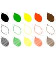rowan leaf color set vector image vector image