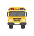School bus isolated on white background flat