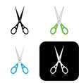scissors icons vector image vector image