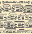 seamless pattern with boomboxes design element vector image