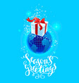 season greetings card vector image vector image