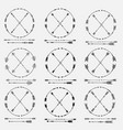 set of arrows and round frames vector image vector image