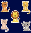 set of different kinds of cats stickers vector image