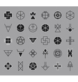 Set of geometric hipster shapes14 vector image vector image