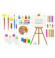 set of tools and materials for vector image vector image