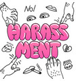 sexual harassment concept with the vector image vector image
