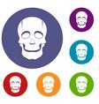 singer mask icons set vector image vector image
