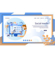 social media recruit online profile resume search vector image