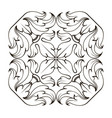square frame corners ornament vector image