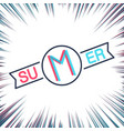 summer creative label vector image vector image