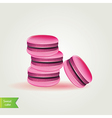 Sweet macaroons vector image