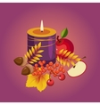 Thanksgiving Autumn with Candle vector image vector image