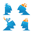 thinking and creativity vector image