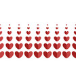 webhorizontal border of hearts of different sizes vector image vector image