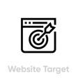 website target personal targeting icon editable vector image