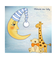 welcome baby greetings card vector image vector image