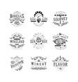 wine badge craft retro vintage design vector image