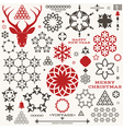 Christmas New Year Vintage vector image