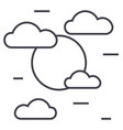 cloudy day line icon sign on vector image