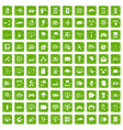 100 network icons set grunge green vector image vector image