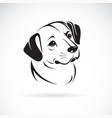 a dog head design on white background animals pet vector image vector image