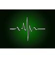 abstract green cardio vector image vector image