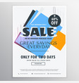 abstract sale and discount coupon voucher for vector image vector image