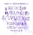 Alphabet Hand Drawn Font Letters vector image