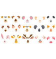 animal face for video chat filter masks vector image