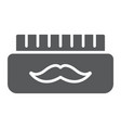 barber gel glyph icon container and barber vector image vector image
