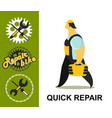 bicycle repair vector image vector image