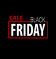 black friday template vector image vector image