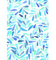 blue and purple tropical fern watercolor vector image vector image