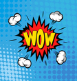 Boom comic book explosion vector image vector image