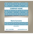 business card template in blue and white colors vector image vector image