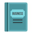 Business plan icon flat style vector image