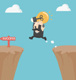 Businessman jump over the cliffBig Boss vector image